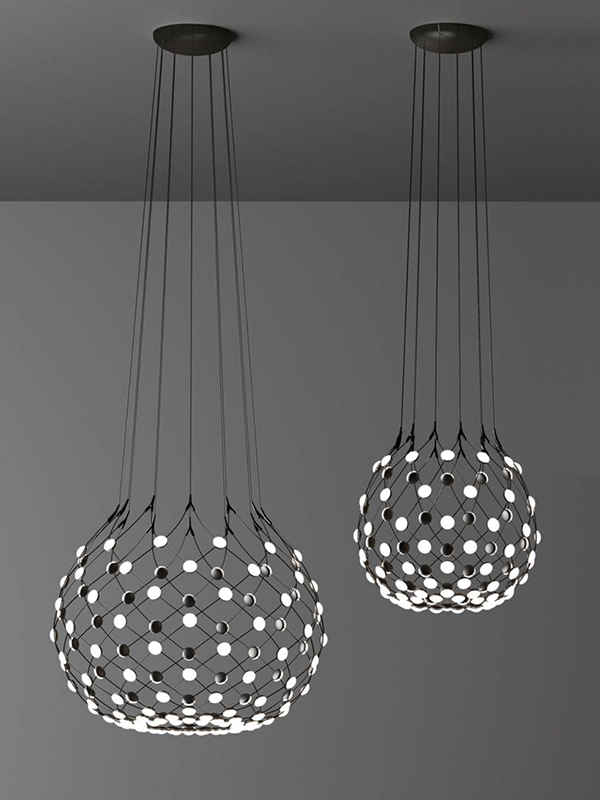 Ambiance suspension MESH Ø100 & Ø80 ALLUMEE luce plan