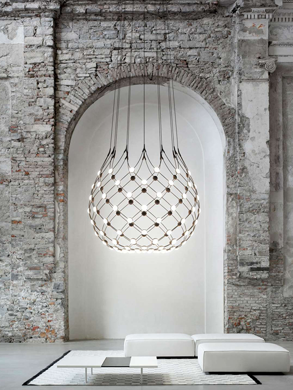 Ambiance suspension MESH Ø100_D86N luce plan