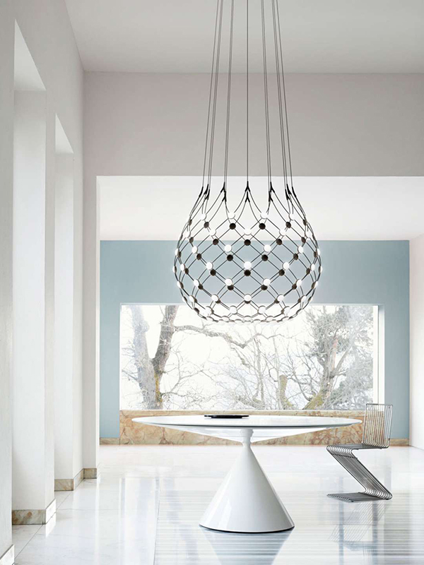 Ambiance suspension MESH Ø80_D86NPI luce plan