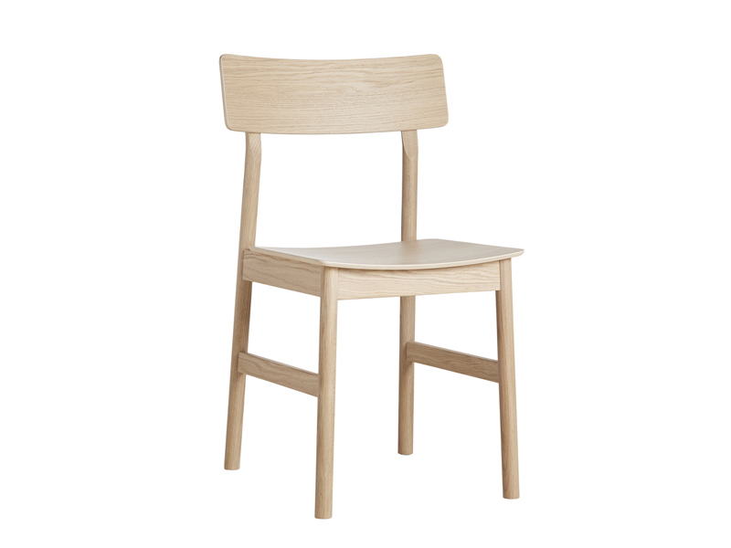 Chaise PAUSE DINING CHAIR CHENE PIGMENTE BLANC_100060 woud