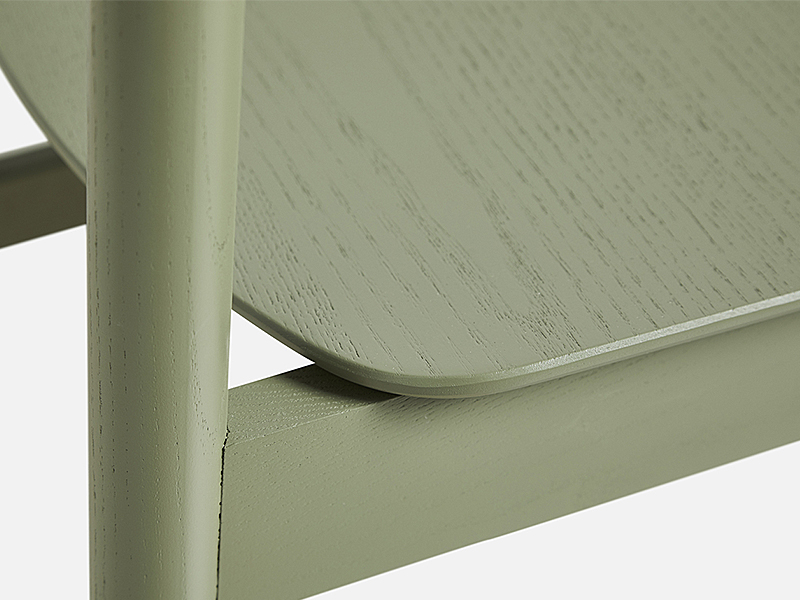 Détail chaise PAUSE DINING CHAIR VERT OLIVE_100066 woud