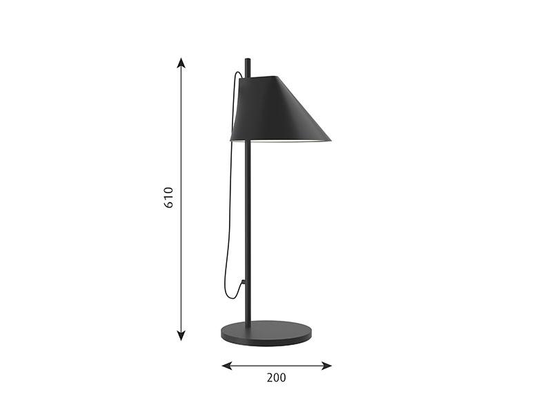 Cotations LAMPE DE TABLE YUH NOIR louis poulsen