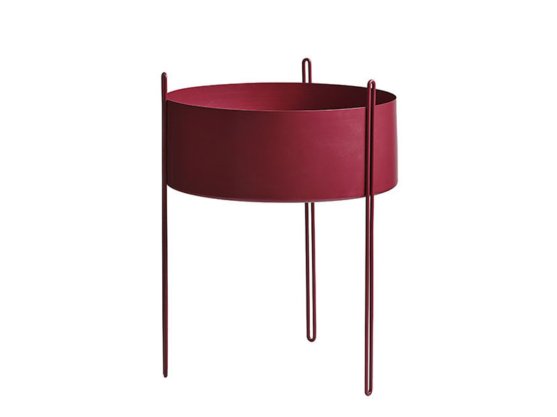 150108_Cache pot PIDESTALL LARGE ROUGE woud