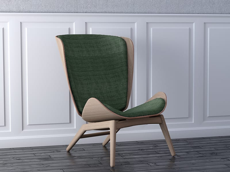 Ambiance FAUTEUIL THE READER VERT PRINTANIERS umage