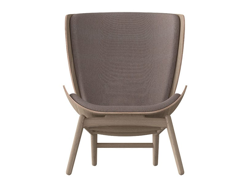 Fauteuil THE READER CHENE & ROSE POUSSIEREUX umage