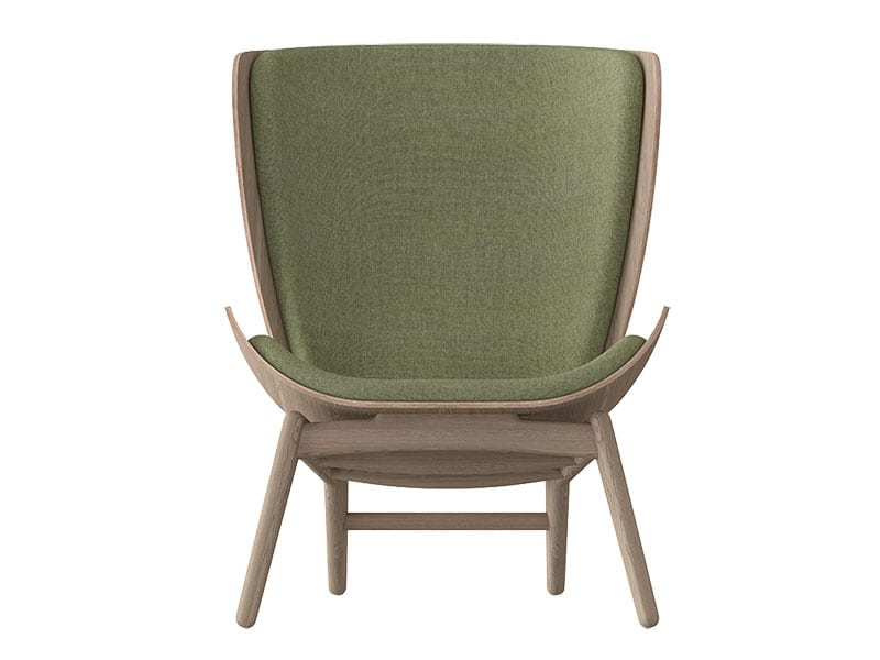 Fauteuil THE READER CHENE & VERT PRINTANIERS umage