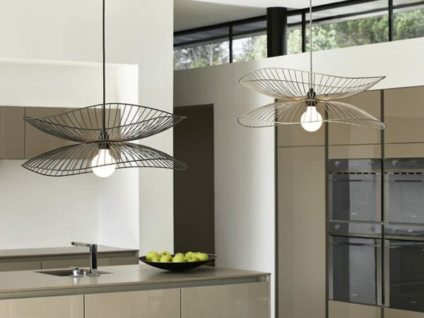 Ambiance SUSPENSION LIBELLULE NOIRE & TAUPE METALLIQUE forestier paris