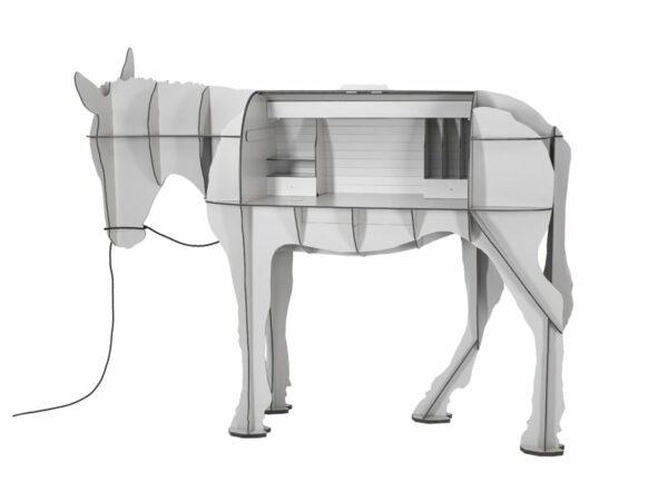 Bureau dos d'âne MATURIN BLANC OUVERT ibride