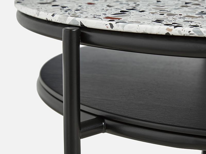Détails 110753 TABLE BASSE VERDE_NOIR & TERRAZZO woud