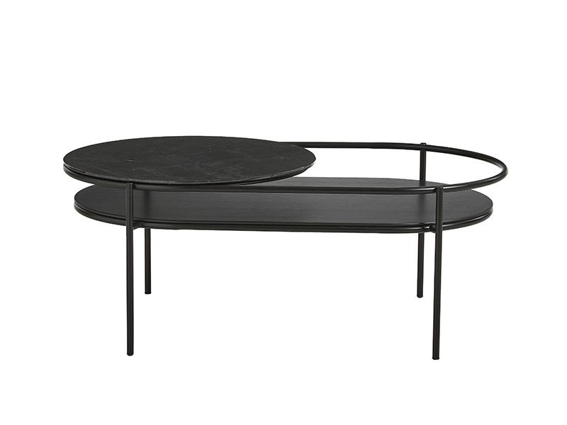 TABLE BASSE 110751 VERDE NOIR & MARBRE NOIR (VUE DE FACE) woud