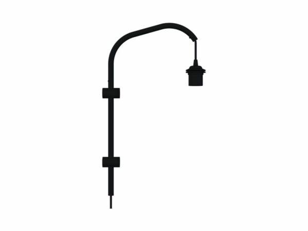 Applique à simple bras avec cordon & interrupteur 4151 WILLOW MINI NOIR (1 DOUILLES E27) umage