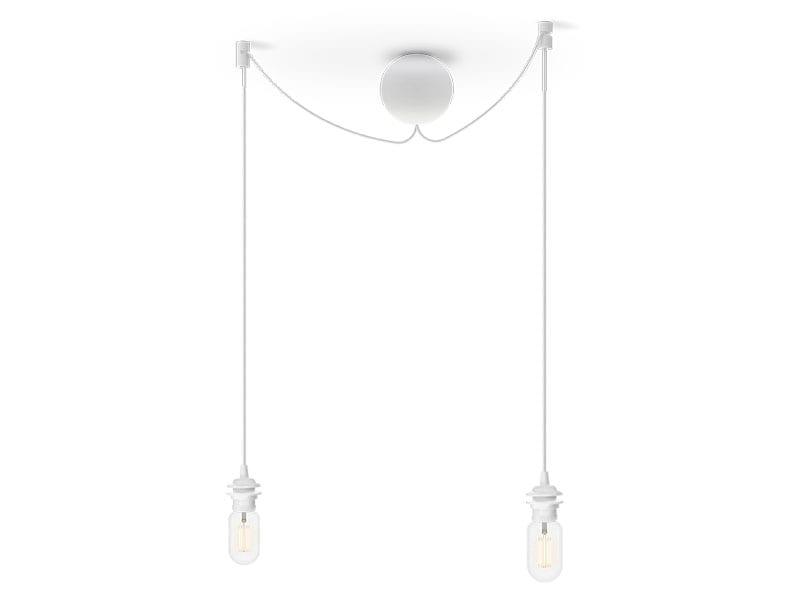 Monture grappe de luminaires en plastique 4089 CANNON BAL CLUSTER BLANCHE (2 DOUILLES E27) umage