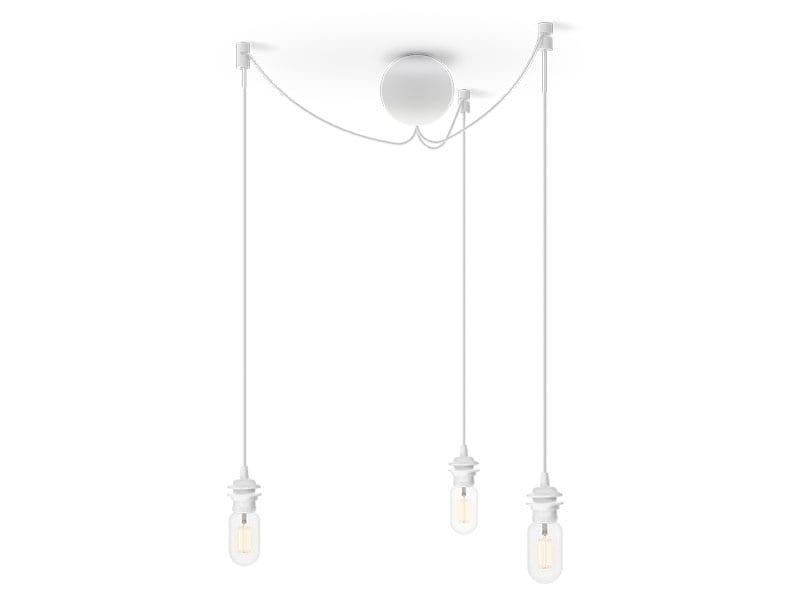 Monture grappe de luminaires en plastique 4090 CANNON BAL CLUSTER BLANCHE (3 DOUILLES E27) umage