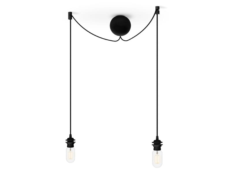 Monture grappe de luminaires en plastique 4091 CANNON BAL CLUSTER NOIRE (2 DOUILLES E27) umage