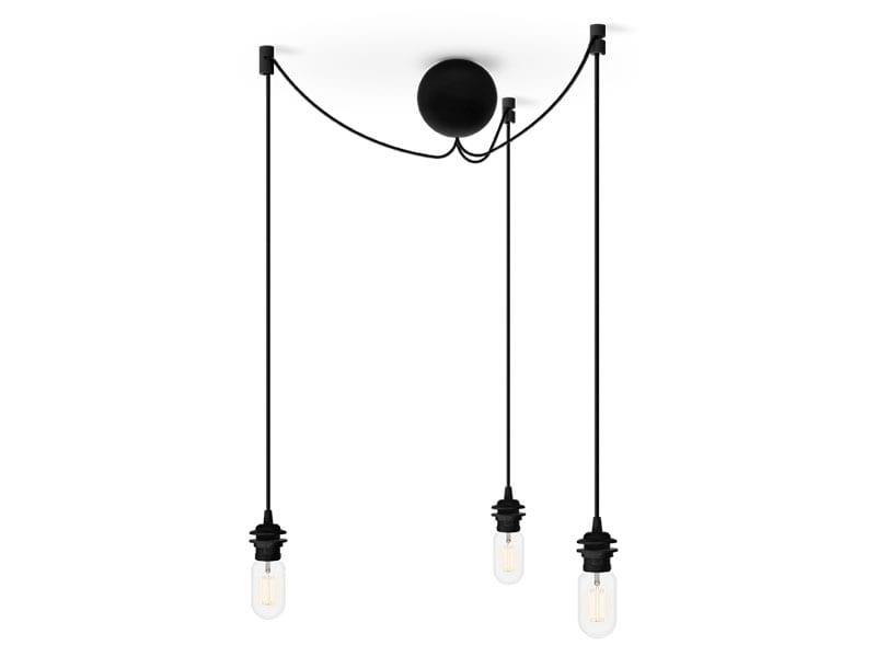 Monture grappe de luminaires en plastique 4092 CANNON BAL CLUSTER NOIRE (3 DOUILLES E27) umage