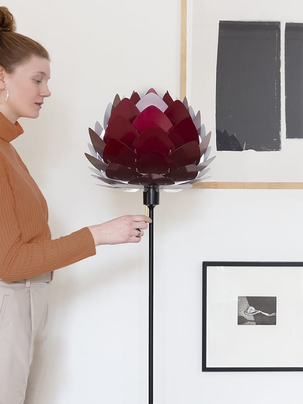 Ambiance LAMPADAIRE 4036 CHAMPAGNE FLOOR NOIR & DIFFUSEUR ALUVIA ROUGE RUBIS umage