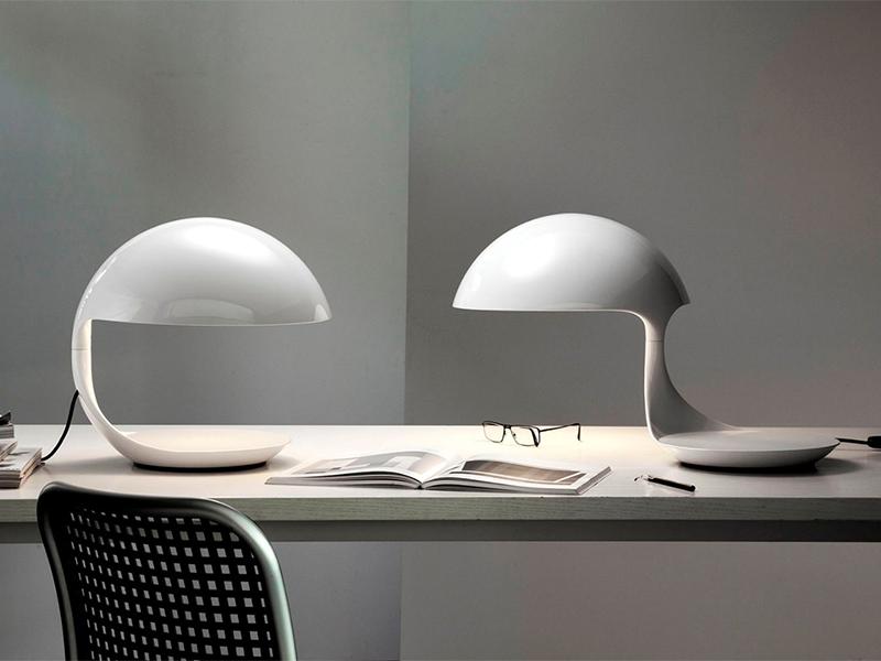 Ambiance LAMPE DE TABLE COBRA BLANC_629_2 martinelli luce