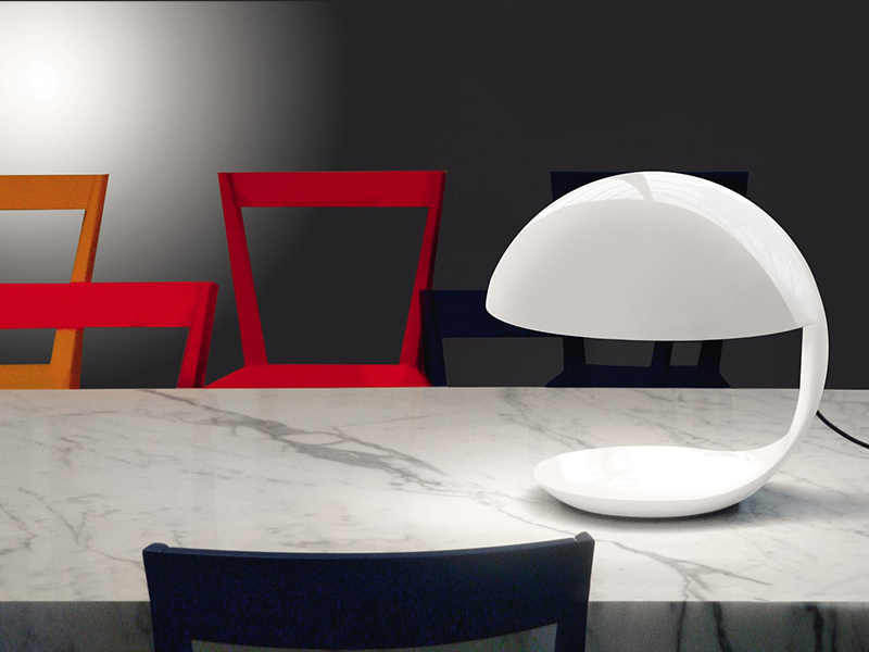 Ambiance LAMPE DE TABLE COBRA BLANC_629_4 martinelli luce