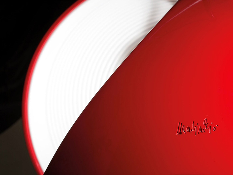 Détail LAMPE DE TABLE COBRA ROUGE_629-RO_1 martinelli luce