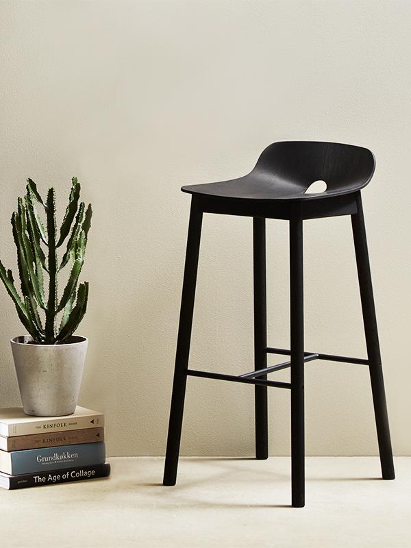 Ambiance chaise de bar hauteur d'assise 65 cm MONO COUNTER CHAIR BLACK_100911 woud