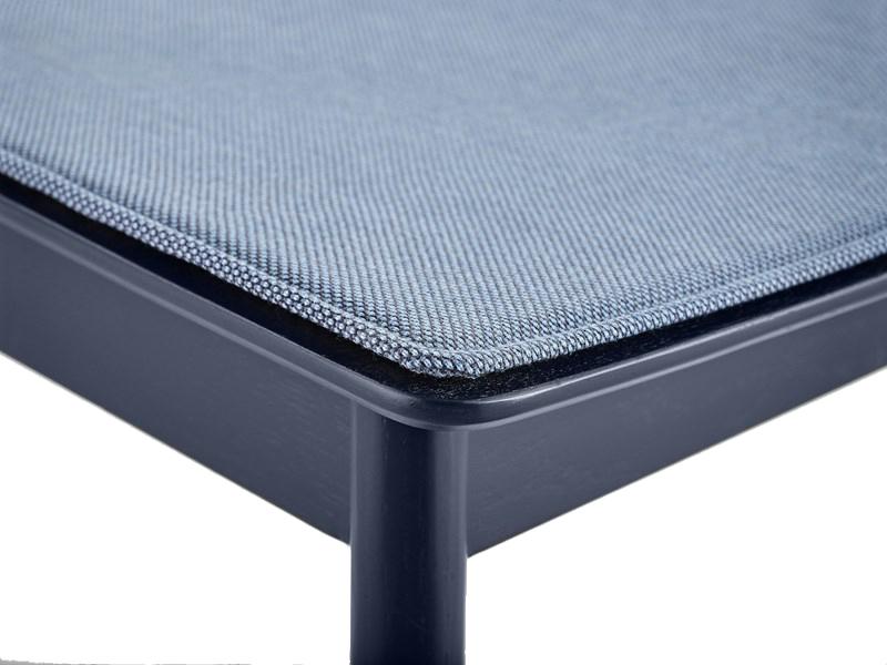 Détail coussin de chaise PAUSE SEAT PAD BLEU_108032 woud