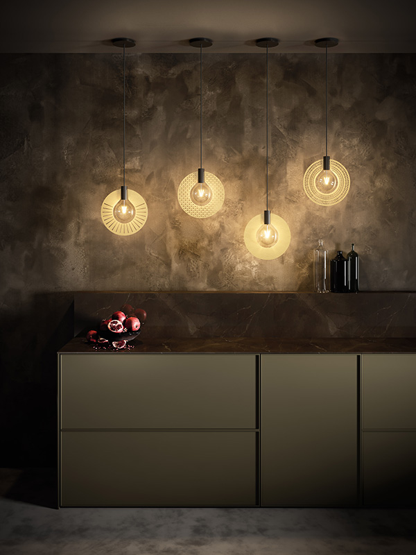 Ambiance suspension HALO SAT 310 RAY, ETHNIC, IDEAL, DELTA cvl