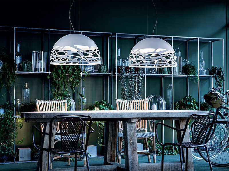 Ambiance suspension KELLY SMALL DOME BLANC Ø 50_141002 (1) lodes