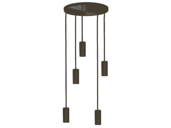 Plafonnier de suspension 5 lampes sans plaques HALO R5 GRAPHITE cvl