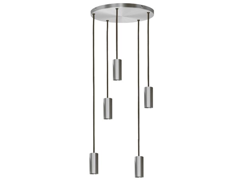 Plafonnier de suspension 5 lampes sans plaques HALO R5 NICKEL cvl