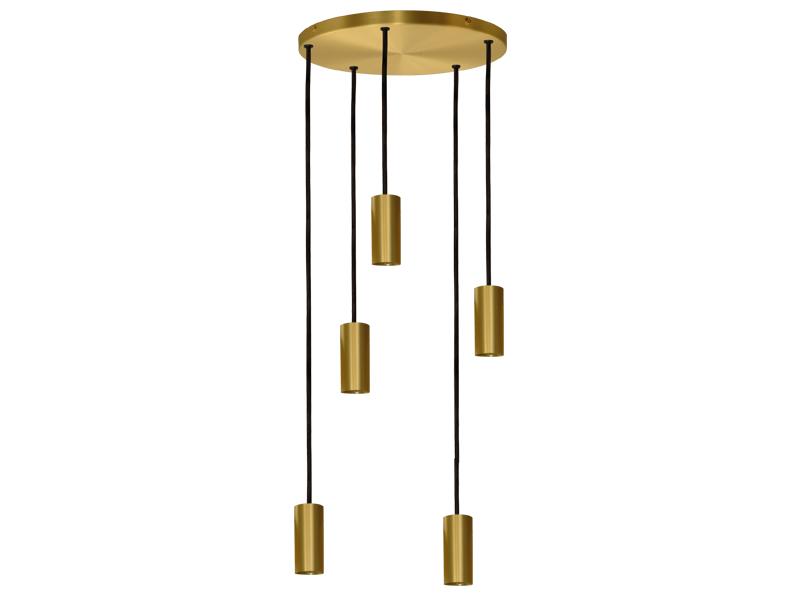 Plafonnier de suspension 5 lampes sans plaques HALO R5 SATINÉ cvl