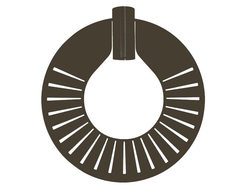 Plaque pour montures HALO_MODÈLE 310 RAY GRAPHITE cvl manufacture