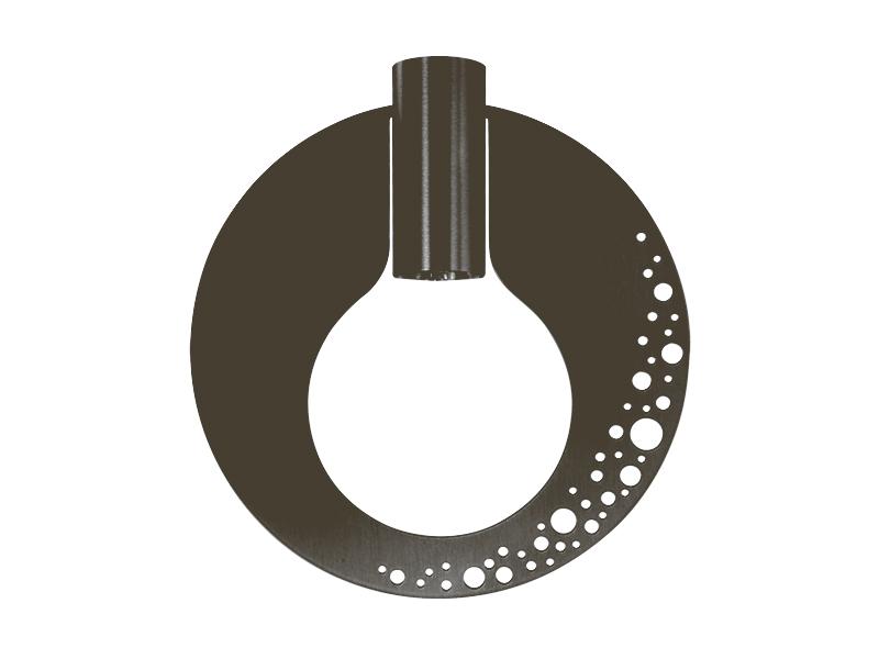 Plaque pour montures HALO_MODÈLE BULLES GRAPHITE cvl manufacture