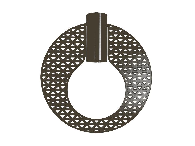 Plaque pour montures HALO_MODÈLE DELTA GRAPHITE cvl manufacture