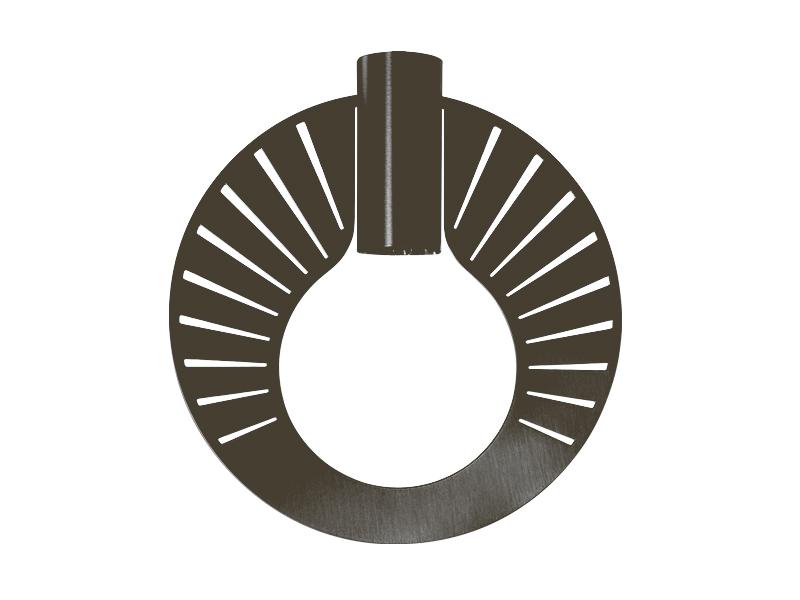 Plaque pour montures HALO_MODÈLE RAY GRAPHITE cvl manufacture