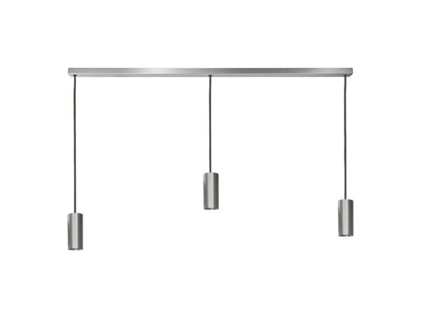 Réglette de suspensions 3 lampes sans plaques HALO L3 NICKEL cvl