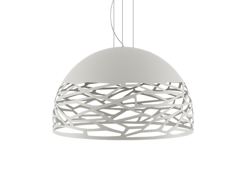 Suspension KELLY LARGE DOME BLANC Ø 80_141021 lodes