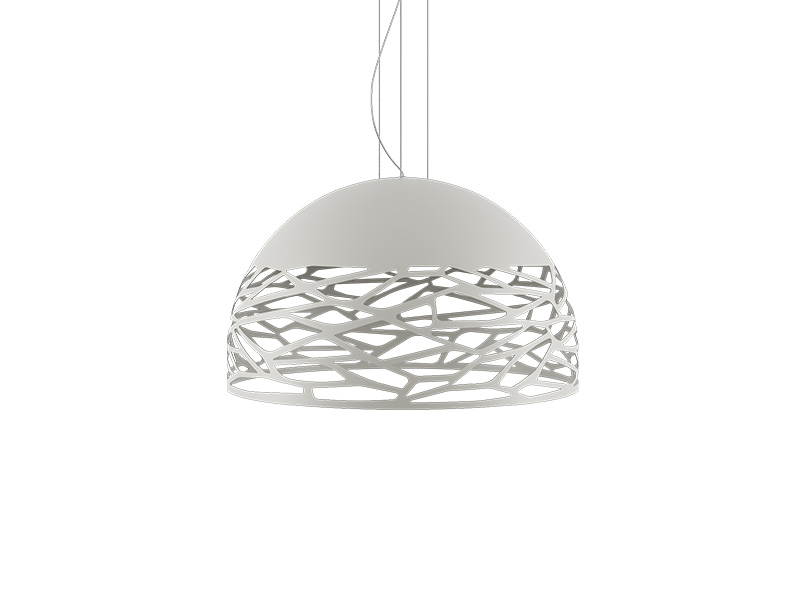 Suspension KELLY SMALL DOME BLANC Ø 50_141002 lodes