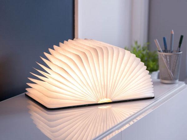 Ambiance lampe de table SMART BOOK LIGHT (LARGE BLACK LEATHER)_GK12L1 (1) gingko