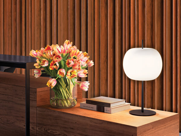 Ambiance lampe de table KUSHI XL NOIR_K223105N kundalini