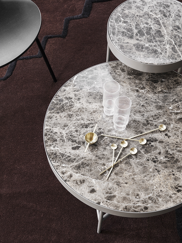 Ambiance table basse en marbre MARBLE TABLE MEDIUM WHITE_9317 ferm living