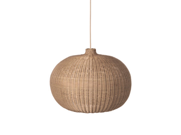 Suspension en rotin BRAIDED LAMPSHADE BELLY NATURAL_100448206 ferm living