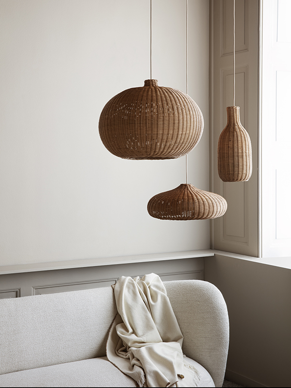 Suspensions en rotin BRAIDED LAMPSHADE NATURAL_1 ferm living