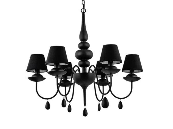 Lustre BLANCHE 6 LAMPES NOIR_111872 ideal lux