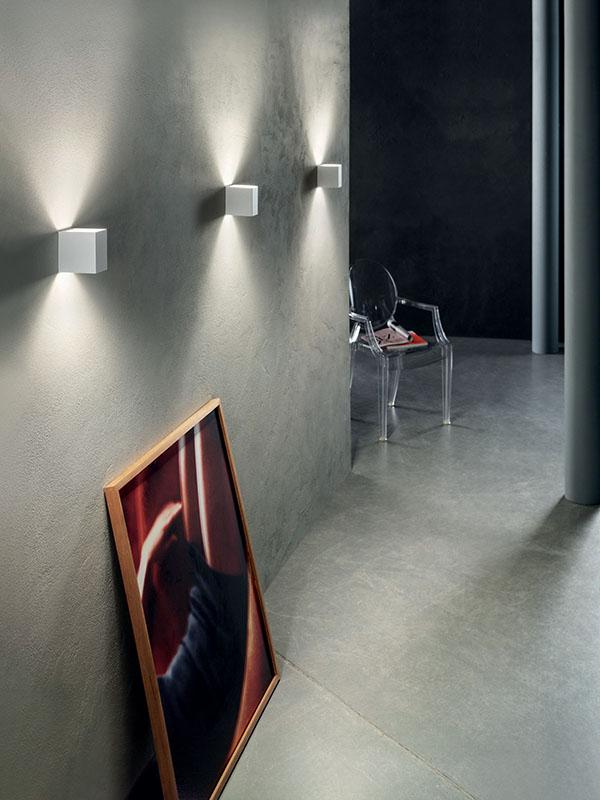 Ambiance applique à faisceaux led 3000°k LASER 10X6 BLANC_036023 studio italia design
