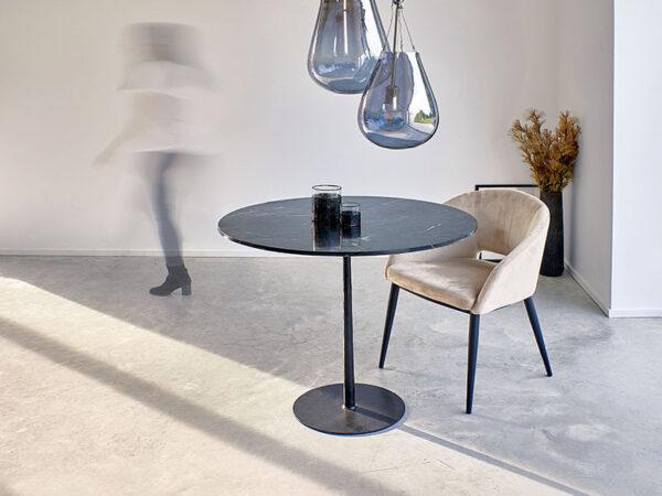 Ambiance chaise en velours et métal SYRAH BEIGE_36724-BEI pomax home collection