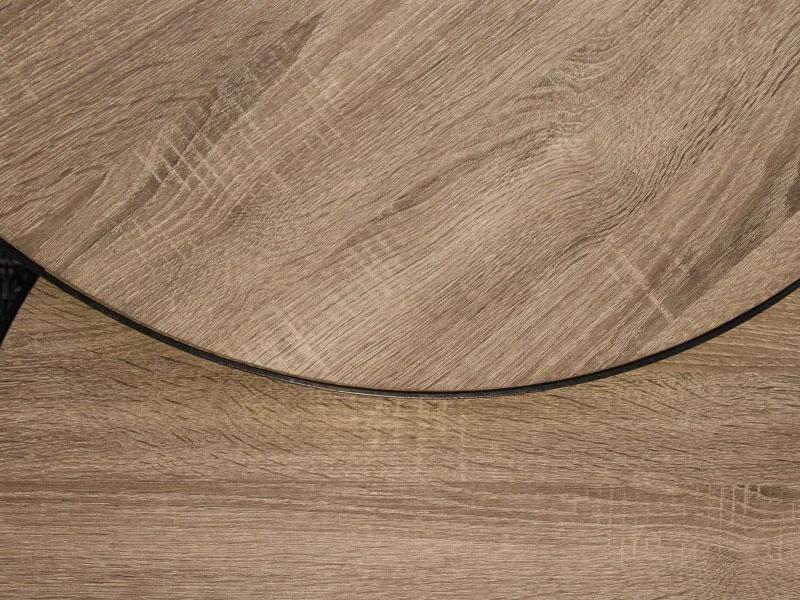 Détail de finitions tables basses en métal et bois MISO NATUREL_33266-NAT pomax home collection