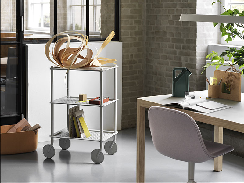 Ambiance chariot FLOW TROLLEY 3 TABLETTES GRIS_98336 muuto