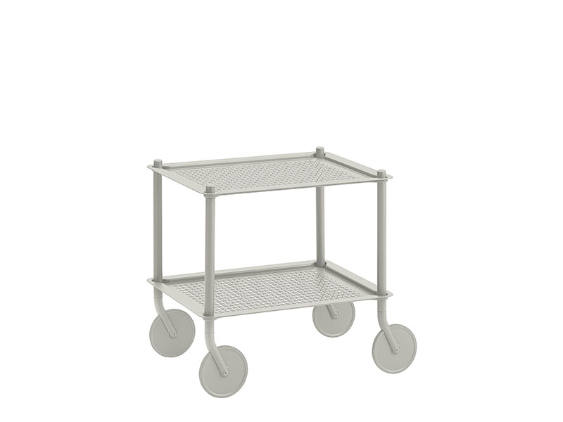 Chariot FLOW TROLLEY 2 TABLETTES GRIS_98336 muuto