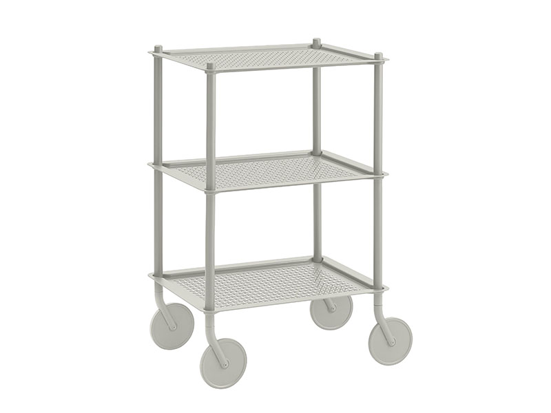 Chariot FLOW TROLLEY 3 TABLETTES GRIS_98338 muuto