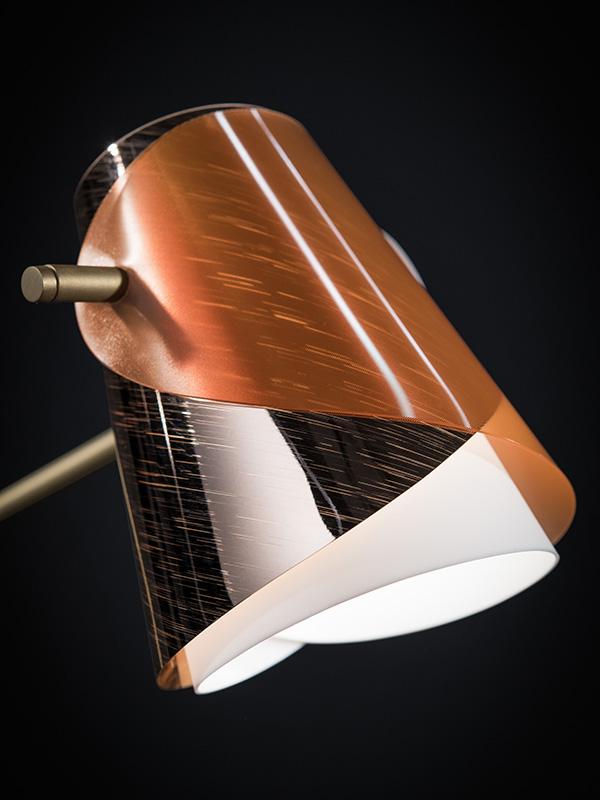 Détail du diffuseur LAMPE DE BUREAU OVERLAY-BALL POINT PEN_OVE94TAV0000RA000 slamp & mont blanc